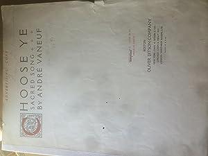 Choose Ye - Sacred Song Medium in F: Andre Vaneuf ( Sol. B Cohen 1891-1988)
