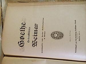 Goethe Gedenkblaetter Weimar