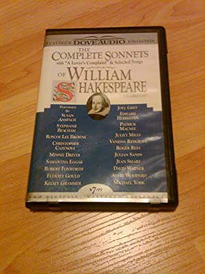 The Complete Sonnets William Shakespeare Lover' s: Christopher Cazenove