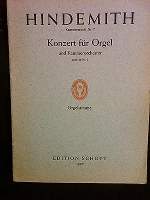 Kammermusik Nr. 7. Opus 46. Nr. 2. Orgelstimme: Paul Hindemith