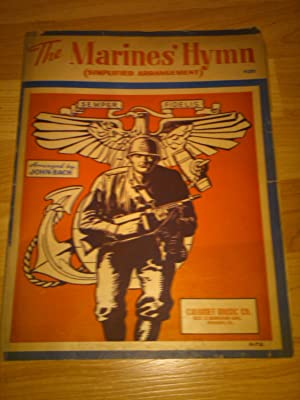 Vintage Sheet Music: The Marines' Hymn (Simplified: John Bach