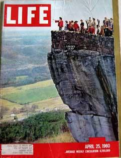 Life Magazine April 25, 1960 -- Cover: Lover's Leap in Rock City, Tennessee