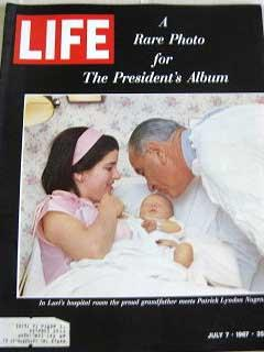 Life Magazine July 7, 1967 -- Cover: President Lyndon Johnson Meets New Grandson