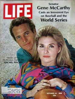 Life Magazine October 18, 1968 -- Cover: Paul Newman and Joanne Woodward