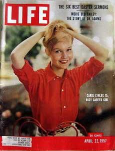Life Magazine April 22, 1957 -- Cover: Carol Lynley