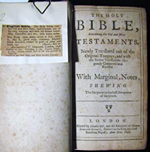THE HOLY BIBLE CONTAINING THE OLD AND