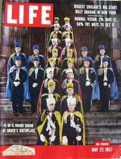 Life Magazine May 27, 1957 -- Cover: Knights of Columbus Honor Guard