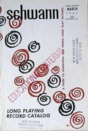 Schwann Long Playing Record Catalog - March: Schwann, William