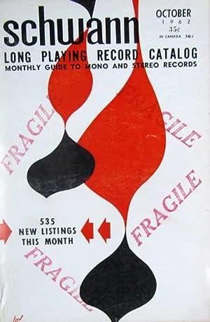 Schwann Long Playing Record Catalog -October 1962: Schwann, William