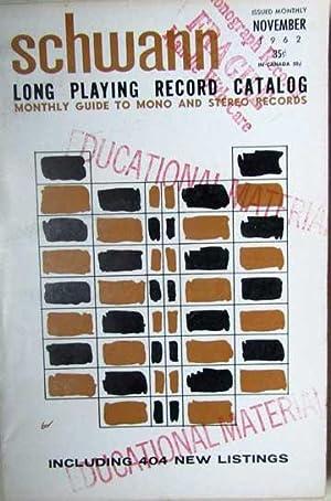 Schwann Long Playing Record Catalog - November: Schwann, William