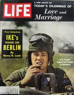 Life Magazine September 8, 1961 -- Cover: U.S. Tanker in Germany