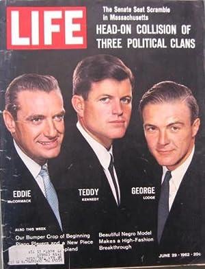 Life Magazine June 29, 1962 -- Cover: Eddie McCormack, Teddy Kennedy, George Lodge