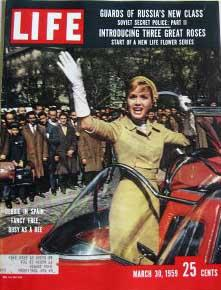 Life Magazine March 30, 1959 -- Cover: Debbie Reynolds in Spain