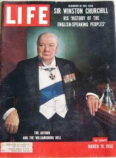 Life Magazine March 19, 1956 -- Cover: Sir Winston Churchill