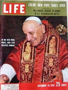Life Magazine November 10, 1958 -- Cover: Pope John XXIII