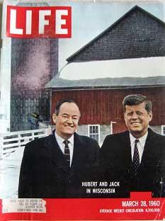 Life Magazine March 28 1960 -- Cover: Hubert and Jack in Wisconsin