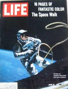 Life Magazine June 18, 1965 -- Cover: Astronaut White Floats over Lower California
