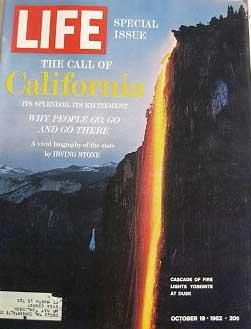 Life Magazine October 19, 1962 -- Cover: Yosemite at Dusk Cover