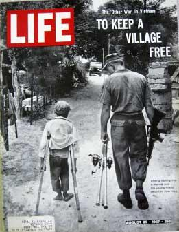 Life Magazine August 25, 1967 -- Cover: Marine Soldier and Vietnamese Child