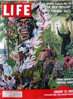 Life Magazine January 25, 1960 -- Cover: Father Marquette Conquers Manitou