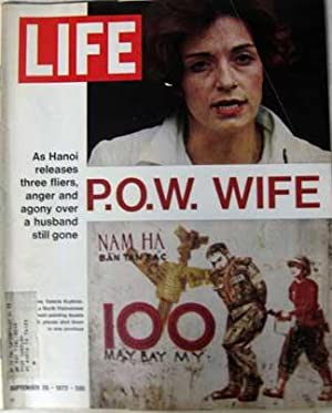 Life Magazine September 29, 1972 -- Cover: POW Wife Valerie Kushner