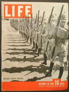 Life Magazine December 30, 1940 - Cover: Britain's Desert Fighters