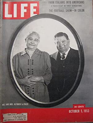 Life Magazine October 5, 1953 -- Cover: Mr. And Mrs. Alfonso La Falce