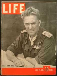 Life Magazine June 24, 1940 - Cover: Italy's Army Chief