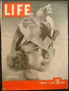 Life Magazine February 12, 1940 - Cover: Orchid Valentine