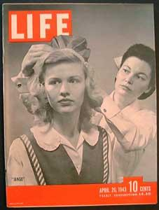 "Life Magazine April 26, 1943 - Cover: ""Jango"""