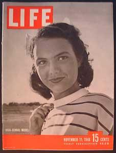 Life Magazine November 11, 1946 - Cover: High-School Model