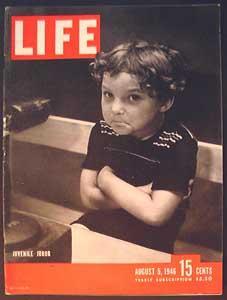 Life Magazine August 5, 1946 - Cover: Juvenile Juror