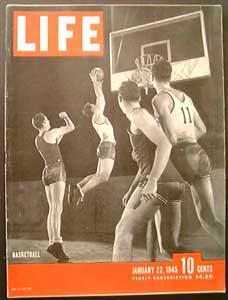 Life Magazine January 22, 1945 - Cover: Basketball