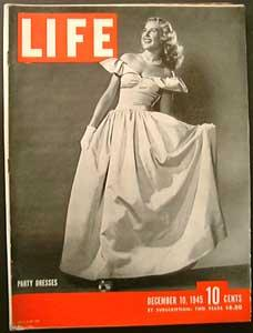 Life Magazine December 10, 1945 - Cover: Party Dresses