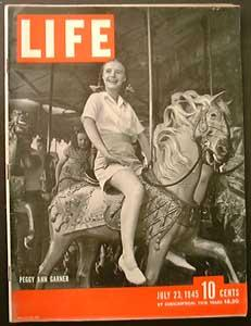 Life Magazine July 23, 1945 - Cover: Peggy Ann Garner