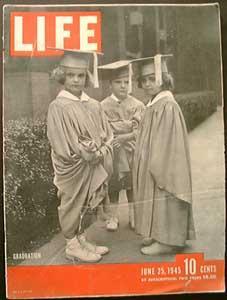 Life Magazine June 25, 1945 - Cover: Graduation
