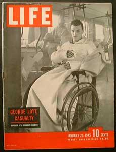Life Magazine January 29, 1945 - Cover: George Lott, Casualty