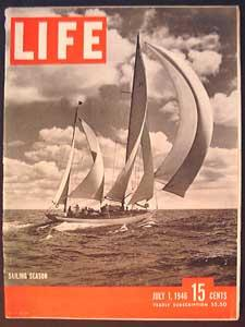 Life Magazine July 1, 1946 - Cover: Sailing Season
