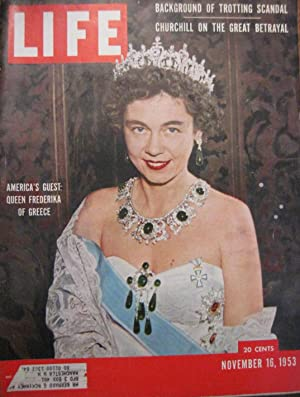 Life Magazine November 16, 1953 -- Cover: Queen Frederika of Greece