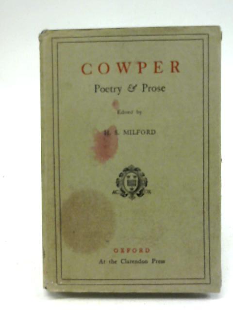 Poetry & Prose with essays by Hazlitt: William Cowper
