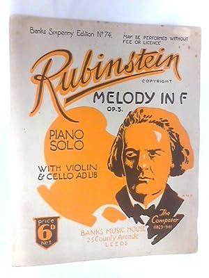 Melody in F Op. 3 Piano Solo: Anton Rubinstein