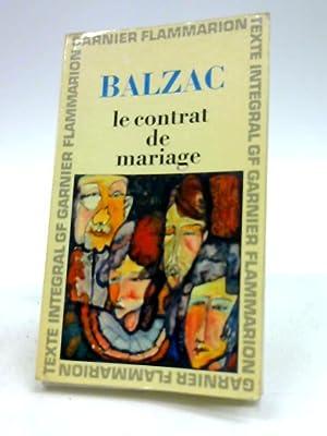 le contrat de mariage: honore de balzac