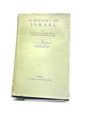 A History of Israel Vol II -: W.O.E. Oesterley