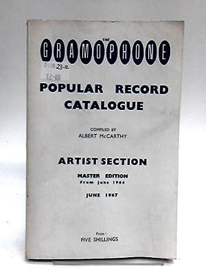 The Gramophone Popular Record Catalogue: McCarthy, Albert