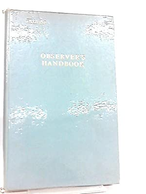 The Marine Observer's Handbook (Met. O): Meteorological Office