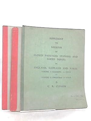 Supplement to Register of Closed Passenger Stations: C. R. Clinker