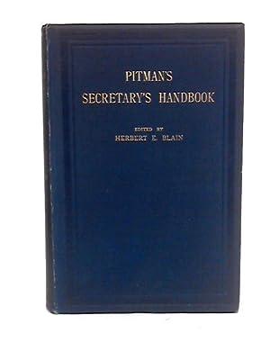 Pitman's Secretary's Handbook: Herbert blain