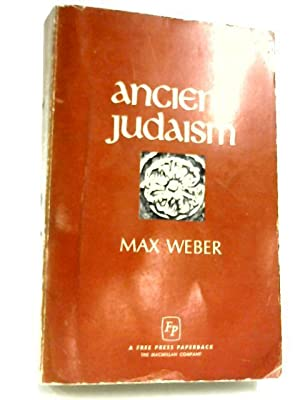 ancient judaism weber max