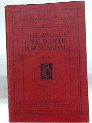 The Rivals and the School for Scandal: Richard Brinsley Sheridan