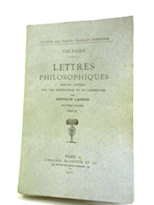 Lettres Philosophiques: Voltaire and Gustave